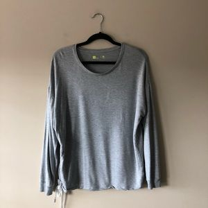 Xersion grey super soft long sleeve top